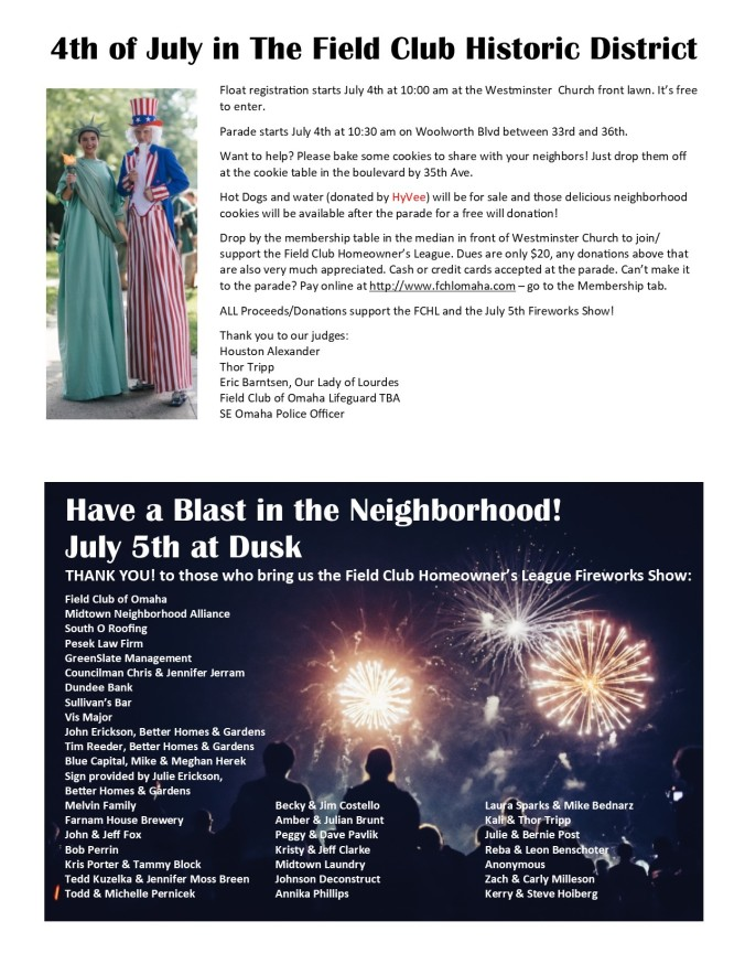 4th of July parade flyer 1